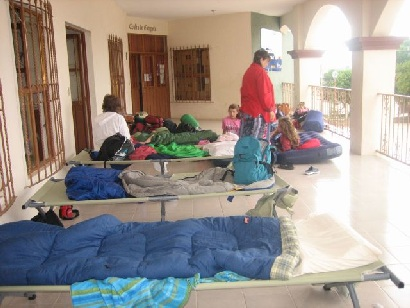 Outreach-sleeping in cots